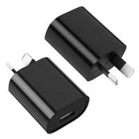 cargador de pared usb au 1a al por mayor-SAA C-Tick Adaptador de corriente USB certificado 5V 1A Australia Nueva Zelanda Enchufe de pared AU USB único para Apple iPhone para Samsung