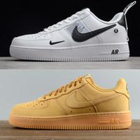 купить черные туфли оптовых-Купить Бренд airlis Мужские женские модные туфли дизайнерские кроссовки af1 все белые черные силы 1 один низкий высокий новая распродажа