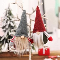 el yapımı yılbaşı süsü toptan satış-Noel El Yapımı İsveçli Gnome Santa Masa Süsleme Noel Ağacı Süsleri Nisse Nordic Peluş Elf Oyuncak JJ20124