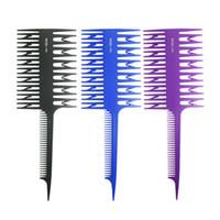 ingrosso pettini a doppia faccia-Due lati Evidenziare la colorazione dei capelli pettine sezionamento Hair Styling Coloring Come immagine Dye saloni