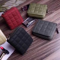 Wholesale cute woman ladies wallet online - Cute Zipper Lady Women Wallets Bifold Card Holder Slots Coin Organizer Bag Short Wallet X477