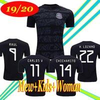 ingrosso pullover di ragazze di calcio-Gold Cup 2019 Camisetas Mexico 19 20 MEN WOMEN KIDS maglia da calcio 2018 CHICHARITO LOZANO DOS SANTOS maglia da calcio per ragazza camisa de futbol