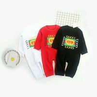 vêtements de bébé filles léopard achat en gros de-GG Baby Barboteuses Combinaisons Bébé Filles Vêtements Enfants Automne Nouveau-Né Bébé Vêtements Coton À Manches Longues Grimper Vêtements