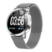 pulseira telefone relógio inteligente venda por atacado-CF18 relógio inteligente de fitness homens relógio Sports Tracker pedômetro Heart Rate Monitor de saúde pulseira Intelligent Relógio Para IOS Android