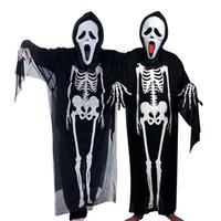 скелетные части оптовых-Ghost Festival Skeleton Set Хэллоуин Косплей Скелет Костюм Ужаса Маскарад Взрослые Дети Дизайнер Маска Ужаса Одежда из трех частей Набор