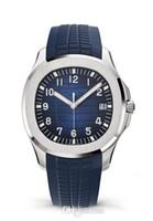 homens relógios de luxo de borracha venda por atacado-2019 relógios de pulso de luxo Aquanaut movimento Automático de aço inoxidável confortável pulseira de borracha cinta original homens homens relógio do relógio