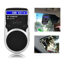 kit de carro bluetooth com energia solar venda por atacado-2017 solar powered speakerphone com tela LCD Sem Fio Bluetooth Car Kit viva-voz speaker car styling