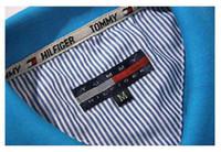 ingrosso base per gli uomini-2017 designer fige Polo Solid Polo Shirt Uomo Luxury Polo Shirt manica lunga da uomo Basic Top Cotton Polo per ragazzi Designer di marca Polo Homme
