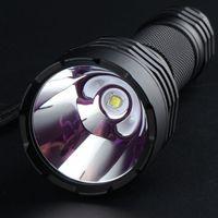 lampe de poche led cuivre achat en gros de-Convoy C8 + SST40 Lampe torche étanche à haute puissance avec 4 modes de fonctionnement, panneau de cuivre