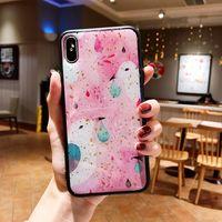 розовый чехол для мобильного телефона оптовых-Yunrt роскошный милый мультфильм розовый Bling блеск телефон Case для iPhone 6 7 8 Plus XS XR Xsmax мода Мягкий силиконовый задняя крышка