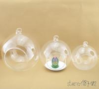 ingrosso paesaggio matrimonio-12pcs vetro terrario palla globo forma trasparente appeso vaso fiore aria piante contenitore mini paesaggio fai da te matrimonio decorazione della casa q190528