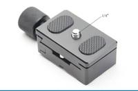placa de montaje de liberación rápida al por mayor-Soporte para cámara dslr 1/4 '' Placa de liberación rápida + Soporte adaptador de abrazadera para réflex digital Cámara trípode Cabeza de bola