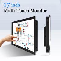 multipantalla táctil al por mayor-17 pulgadas de pantalla táctil capacitiva PC Monitor de pantalla táctil multi USB Industrail Monitor
