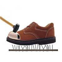 Wholesale Men s Protective Shoes Steel Toe Work Shoes Genuine Leather Male Shoes Safety D50
