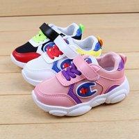 bebekler için düşmüş ayakkabılar toptan satış-Bahar Güz Çocuklar Ayakkabı C Logo Örgü Renk Eşleştirme Nefes Tenis Ayakkabıları Atletik Erkek Kız Koşu Ayakkabıları Rahat Spor Bebek SneakersC71805