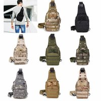 Wholesale tactical shoulder sling bags for sale - Group buy Casual Tactical Chest Bags Outdoor Crossbody Bag Single Shoulder Sling Bag For Mountain Climbing Camouflage Handbag ZZA685