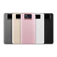 dijital fener toptan satış-Acil el feneri ile güç bankası dijital ekran 2 USB çıkışı şık tasarım Özelleştirilebilir LOGO Ücretsiz kargo