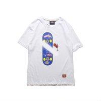 imagem única da camisa venda por atacado-Primavera e no verão nova moda única homens e mulheres casal T-shirt designer de marca para criar personagens de desenhos animados