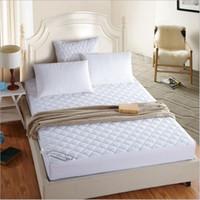 ingrosso molle materassi-Un materassino imbottito elastico trapuntato bianco con coprimaterasso imbottito per hotel 6 misure disponibili