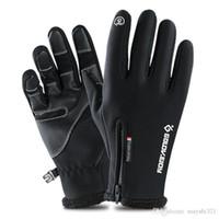 ветрозащитные перчатки оптовых-Снег спорт лыжные перчатки сенсорный экран водонепроницаемый катание на лыжах защитное снаряжение зимние Велосипедные перчатки защита от ветра для мужчин и женщин