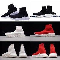 qualität herren socken großhandel-2018 Designer Schuhe New Mens Paris Berühmte Schuhe mit weißer Textur Sohle Hochwertige Designer Sockenschuhe für Damen Größe 36-47 n072