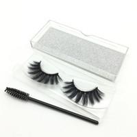 kalın saçlar için uzantılar toptan satış-3D Vizon Saç Fasle Kirpik Taşınabilir Göz Kirpik Fırçası Ile Yumuşak Kalın Doğal Vizon Kirpikler Yanlış Kirpik Lashes Uzatma sahte Kirpikler