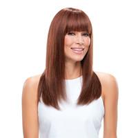 açık kahverengi indian saç toptan satış-Patlama ile açık Kahverengi İnsan Saç Peruk Düz Tam Dantel Peruk Bakire Hint Tutkalsız Dantel Ön Peruk Bebek Saç Rengi ile # 8