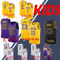 Wholesale basketball jerseys shorts for sale - Group buy YOUTH LeBron James Los Angeles jerseys Laker Kobe Bryant Lonzo Ball Kyle Kuzma kid jerseys