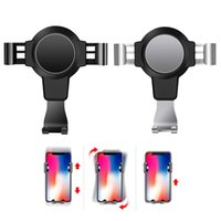 gps mount inch оптовых-Universal in Car Holder Stand Air Vent Mount Clip Cell Mobile Phone Holder Durable Gravity GPS Phone Stand For 4-6.4 inch