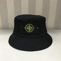 sombrero de algodón blanco al por mayor-6 colores SI sombreros de cubo gorras al aire libre hombres mujeres unisex gorros sombreros de sol algodón tacaños sombreros negro blanco