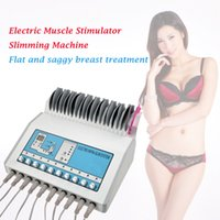 Wholesale waves electronics resale online - Hot product EMS Electronic Muscle Stimulat Machine Russian Wave ems Electric Muscle Stimulator include breast firming and face pads