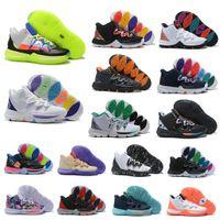 yüksek ayak bileği erkek ayakkabıları toptan satış-Sıcak Erkek Çocuklar Kyrie V 5 All-Star Basketbol Ayakkabı Irving 5 S erkekler Gençlik Kızlar Kadınlar Zoom Spor eğitimi Sneakers Yüksek Ayak Bileği Boyutu 36-46