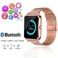 Wholesale cellphone camera tf for sale – best Bluetooth Smart Watch Cellphone Z60 Stainless Steel SIM TF Card Camera Fitness Tracker GT08 GT09 DZ09 A1 V8 Smartwatch for IOS Android