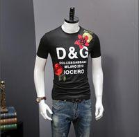 luvas de chumbo venda por atacado-Mens Designers camisetas DG Camiseta 19SS Verão curta camiseta Mulheres Roupa Designers Tees d920