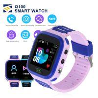 pantalla táctil gps tracker al por mayor-Q100 GPS Smart Watches Smartwatch Baby Kid Watch con WIFI 1.54inch Pantalla táctil SOS Call Location Device Tracker Kid Safe PK qQ528 Q50 Q11