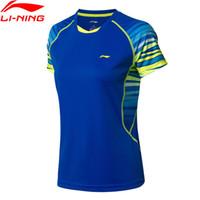 Wholesale li ning badminton for sale - Group buy Break Code Women Badminton T Shirt Competition Tees Seamless LiNing li ning Breathable Sports T shirts AAYN102 WTS1438