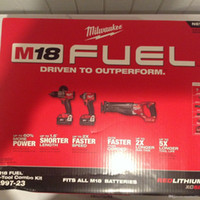 outils de travail en plastique achat en gros de-Milwaukee Kit combo sans fil sans balai Lithium-Ion M18 18V M18 18V (3 outils)