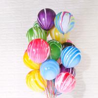 ingrosso prop nozze per la stampa-7 stili 10 pollici colorato palloncino in agata stampato nuvola palla bar festa di nozze bar ktv decorazioni di compleanno a casa forniture oggetti di scena 100 pz / lotto ffa2828-2