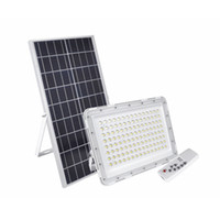 luces de inundación llevadas smd al por mayor-Edison2011 200W Luz de inundación solar ultrafina SMD 3030 Nuevo diseño Lente de burbuja Lámpara de ahorro de energía solar Lámpara de emergencia de seguridad para jardín al aire libre