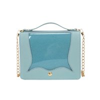 Wholesale ladies office bag for sale - Group buy Summer High Quality Messenger Crossbody Bag Women Flap Sweet Bule Leather Sequins Transparent Patchwork Office Lady Handbags