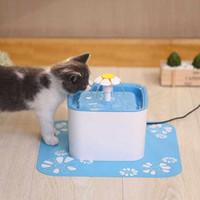 elektrische matte großhandel-Pet Fountain Wasserspender Gesunde Hygienische Trinkbrunnen Blume Automatische Elektrische Super Leise Wasser Blau Matte