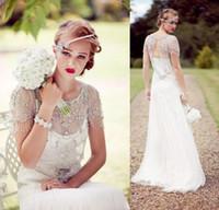 98652f20470aa Wholesale Jenny Packham Summer Beach Wedding Dresses - Buy Cheap ...