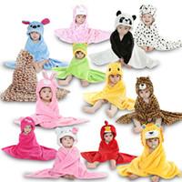 çocuklar havlu kızı toptan satış-Erkek Kız Battaniye Lif Toallas Sonbahar Kış Çocuk Giyim Kundak Şeyler Banyo Bebek Havlu Yenidoğan Infantil Çocuk Giysileri
