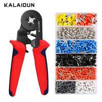 Wholesale terminal crimping pliers resale online - KALAIDUN Crimping Pliers Set Multitool Wire Cable Press Pliers Electric Tube Needle Terminals Box Hand Tools