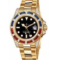 reloj deportivo blanco cuadrado al por mayor-deporte 40mm venta superior de moda de lujo de línea a todo color negro diamante cuadrado 116758 78208 116759 saru-saru-78209 de oro blanco reloj resistente al agua f