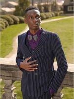 ingiliz takım elbise tasarımı toptan satış-2019 İngiliz Damat 7 Stil Groomens Çizgili Smokin Moda Yelek Damat Düğün Yelek Tasarım Custom Made Erkek Suit Yelek Smokin Yelek Giymek