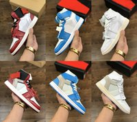 Wholesale mens basketball shoe us15 for sale - Group buy new With original box Mens and women shoes sneakers white s basketball shoes designer shoes Powder Blue UNC Athletic Sport Sneakers