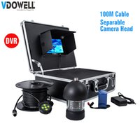 Wholesale underwater head camera for sale - 100m Cable in LCD TVL Upgrade Professional DVR degree Rotatable Underwater video Camera KIT with Separable Camera Head