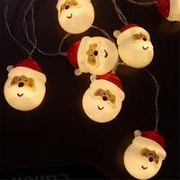 decorações ao ar livre do natal do boneco de neve venda por atacado-Luz do boneco de neve de Natal 1 .5m Outdoor Cordas Xmas Tree Lamp Fada do partido Luz Jardim Home Decor Decoração Hanging Enfeites Natal