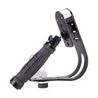 soportes de cámara de video al por mayor-Cámara de tipo arco Estabilizador de mano SLR DV Cámara de video Estabilizador Toma de montaje Soporte Equilibrio